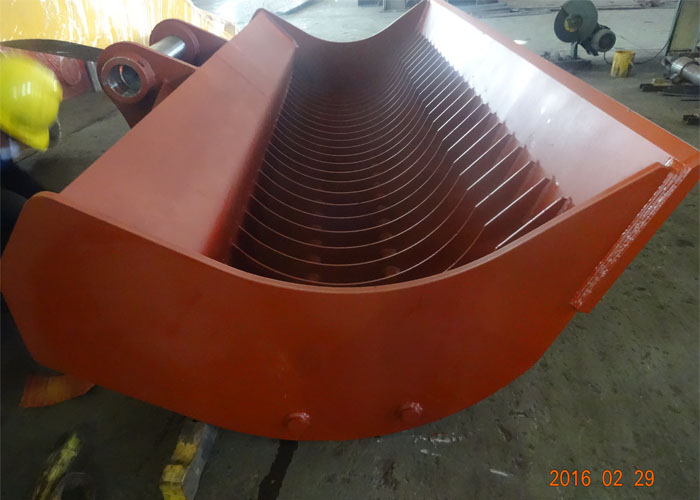 Case CX800 dredging skeleton bucket